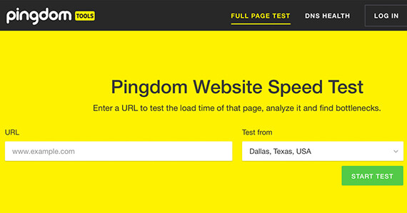 handige tools - pingdom tools - speedtest